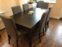 ikea black kitchen table, lerhamn table and chairs ikea