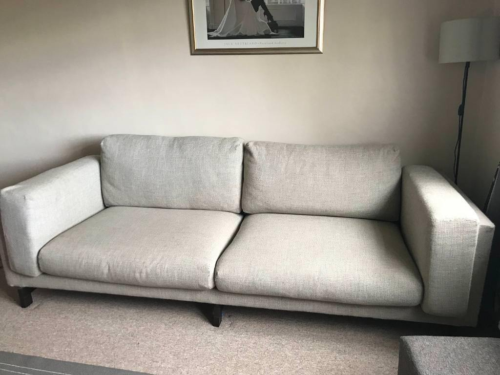 Ikea Sofa Nockeby Test Ikea Nockeby 3 Seater Sofa Teno Light Grey In Raynes