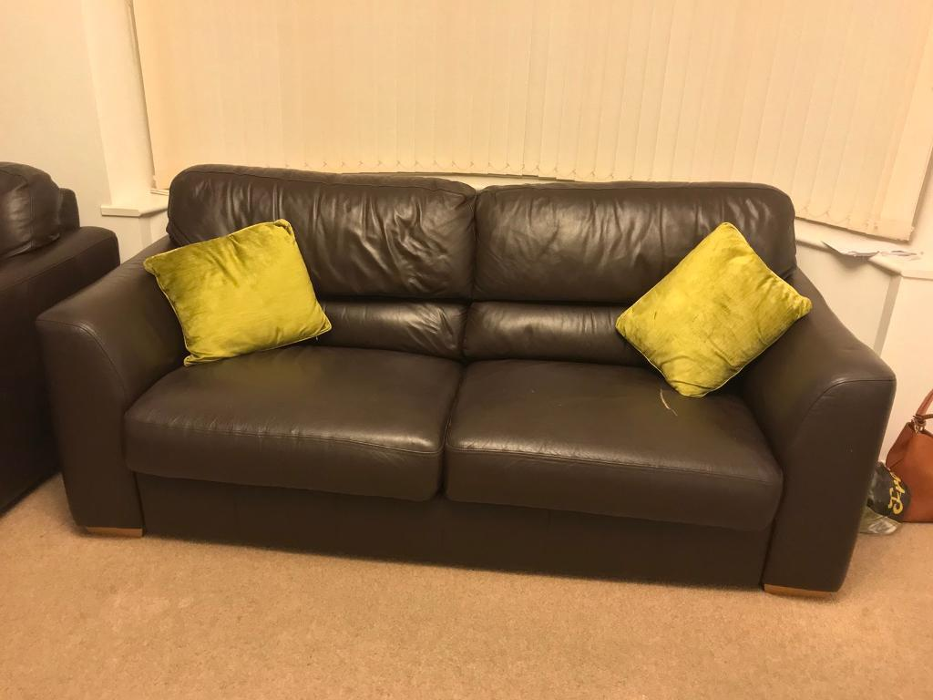cheap brown leather 2 seater sofa www corner bed 3 and storage stool