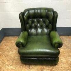 Swivel Chair Uk Gumtree Shoe Shaped Alstons Stockholm In Sunderland Tyne And Wear Stunning Green Leather Chesterfield Armchair Delivery