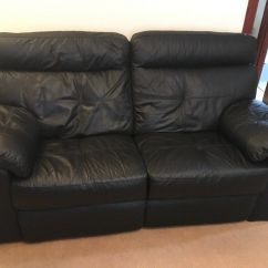 Black Leather Sofas On Gumtree Crate And Barrel Sleeper Sofa Slipcover 2 Seater Recliner In Kingswells