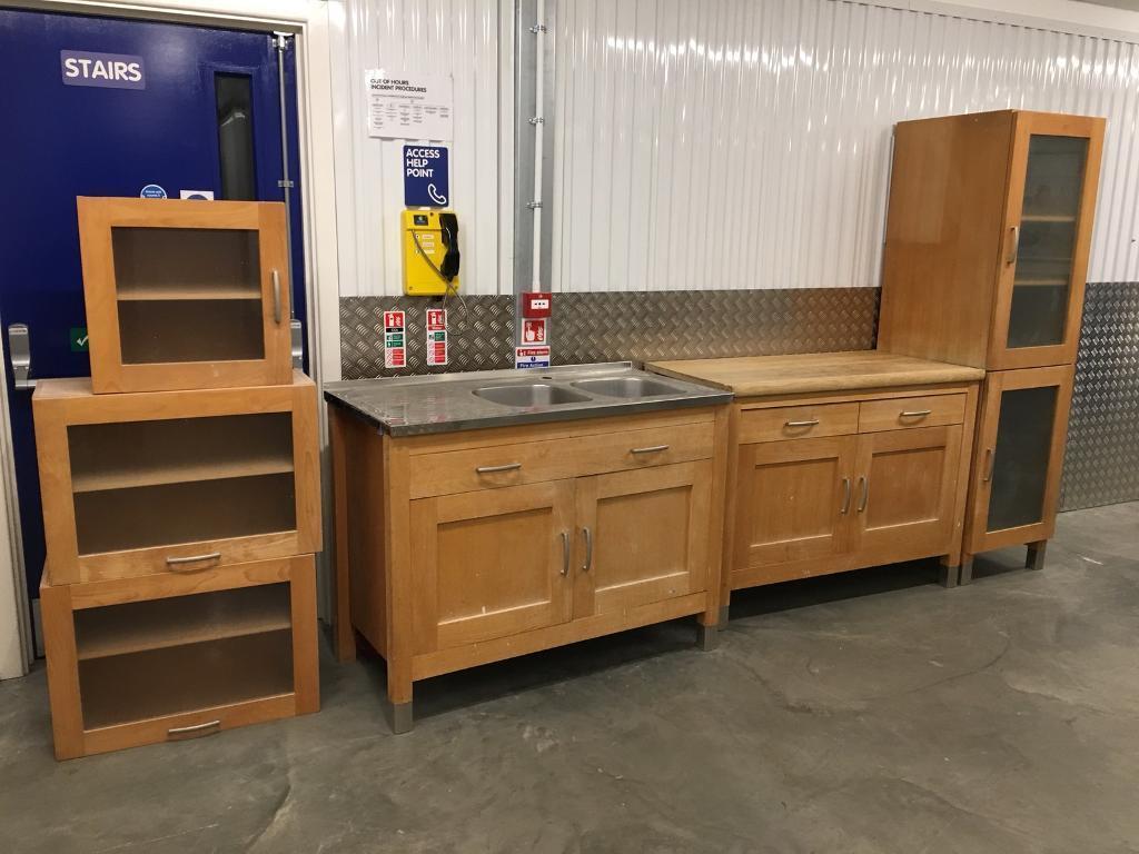 freestanding kitchen best buy aid m s solid beech inc sink unit laura ashley habitat john lewis olivia varde loaf