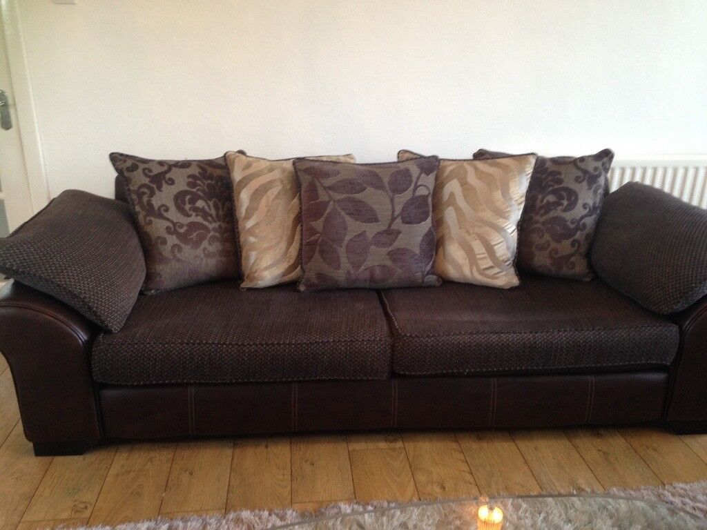 chesterfield sofa gumtree ni full sleeper dimensions 4 and 2 seater brown in castlereagh belfast