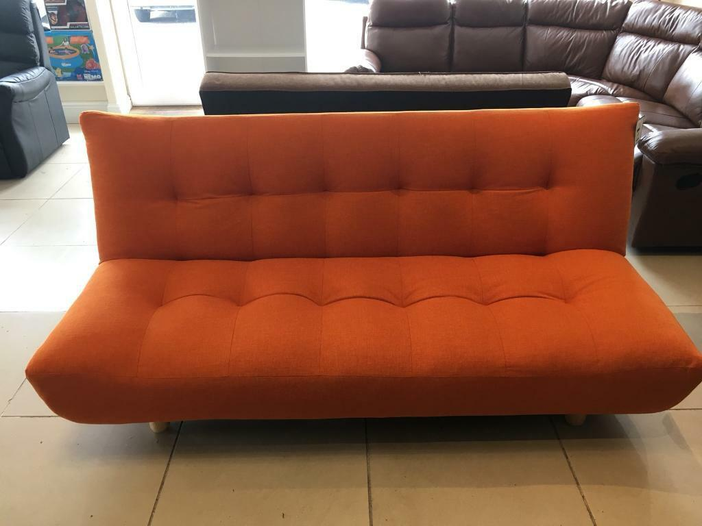clic clac sofa bed large double contemporary sectionals sofas brand new orange fabric small