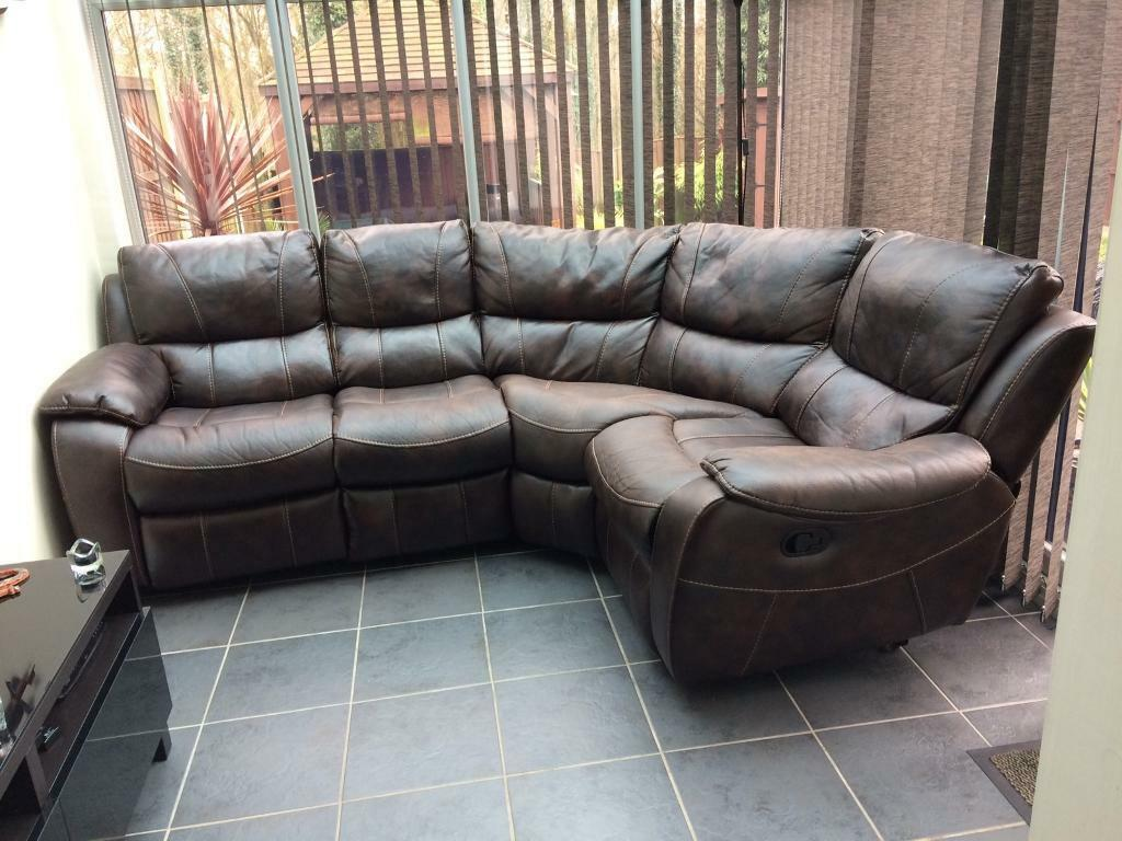 cheap corner sofas nottingham jcp fabric bel air leathaire brown sofa with reclining seats