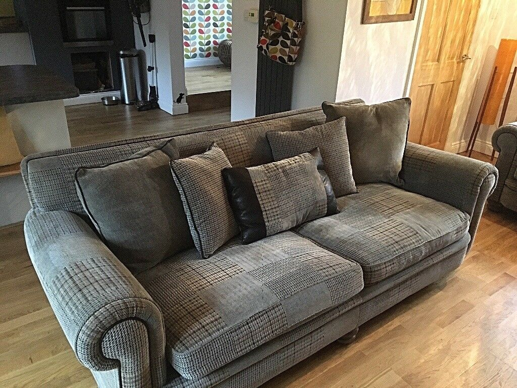dfs corner sofa grey fabric orange cover stunning ashley manor sofas 3x2 | in bolton le sands ...