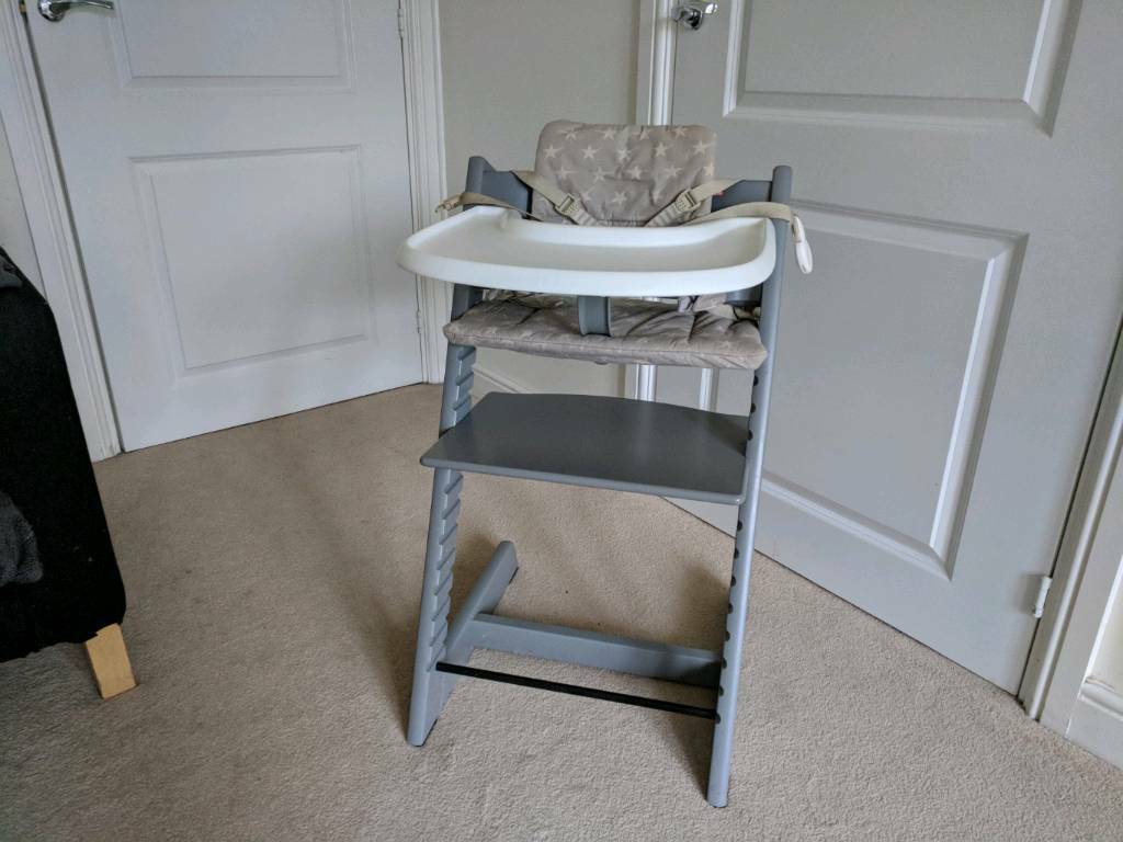 stokke high chair tray swivel knoll storm grey tripp trapp in newcastle