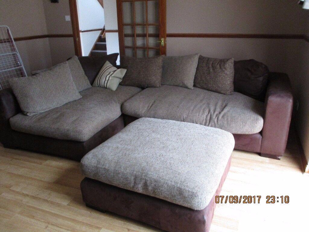 corner sofa brown and cream sofar denver large in inverness highland