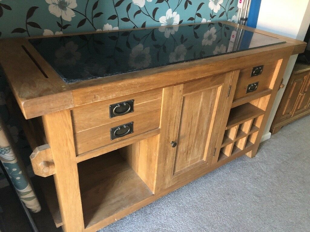 oak kitchen islands remodel app solid island with granite top local delivery is possible