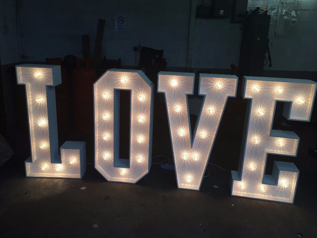 chair covers wedding for sale electric lift aldi love letters hire- £99 (giant letters) | in coventry, west midlands gumtree