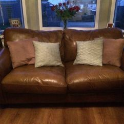 Ashley Leather Sofa Bed Standard Length Of 2 Seater Laura In Pontyclun Rhondda