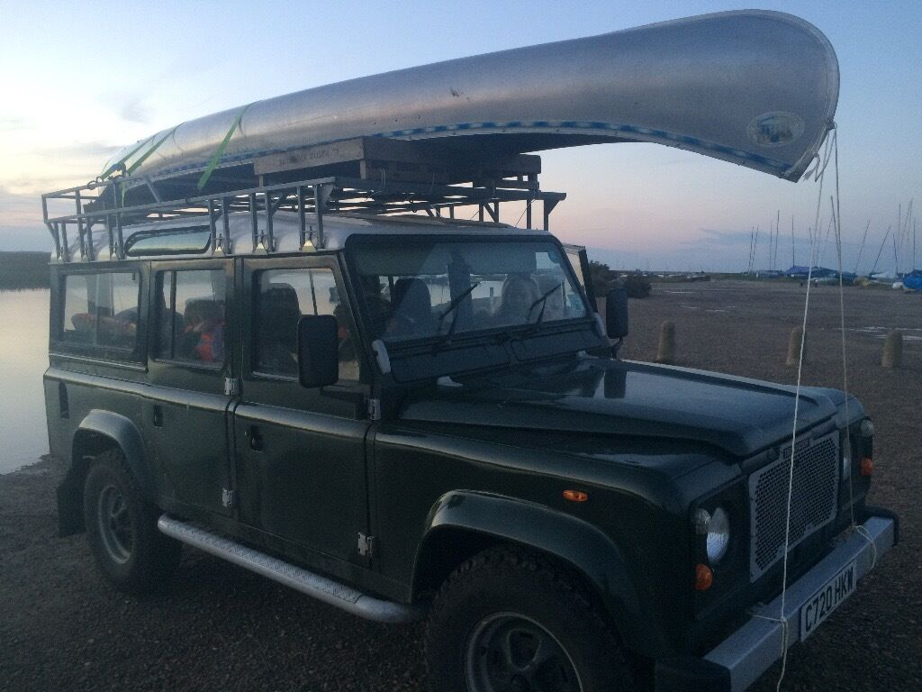 Land Rover 110 heavy duty expedition roof rack with ladder