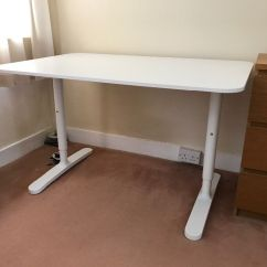 White Desk Chair Ikea Bent Wood Repair Bekant Home Office With Markus In
