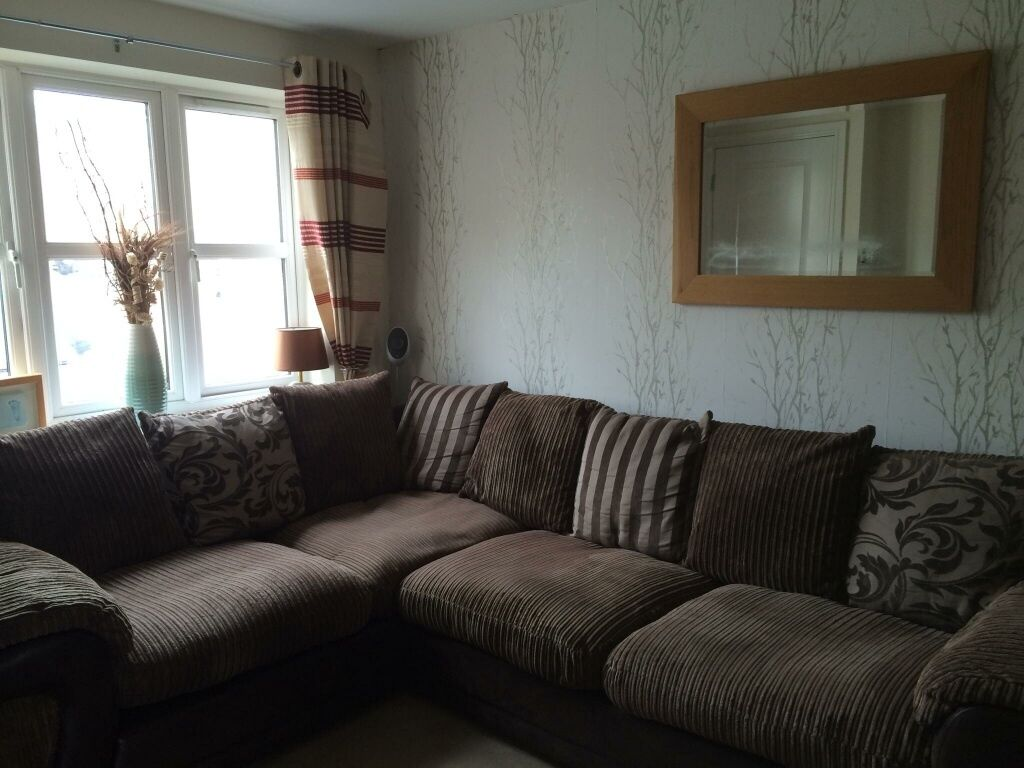 brown fabric corner sofa dfs sleek set designs in huddersfield west