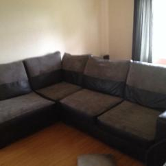 Black Grey Corner Sofa Sale Apartment Size Dimensions And In Marston Green West