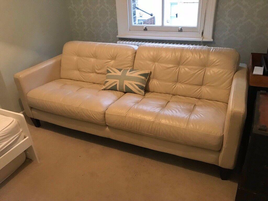 sofa london gumtree bed argos ireland lovely white leather in acton