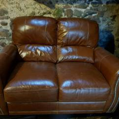 Brown Leather Studded Sofa Decorating Ideas With Sofas Pair Of Italian In Kirriemuir Angus