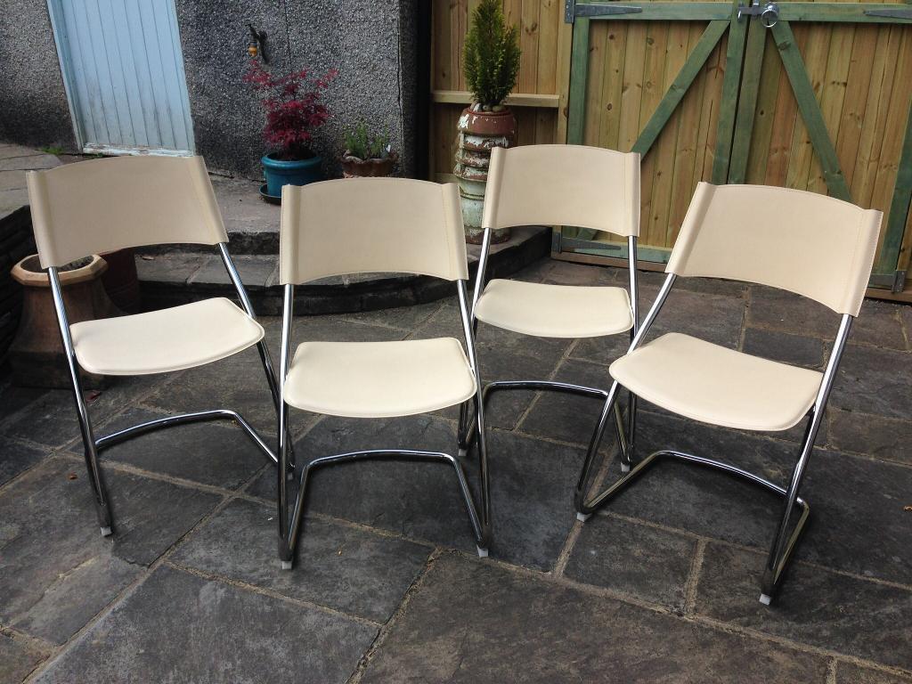 eames leather chair dining office keeps sinking effezeta italian vintage mid century style cream