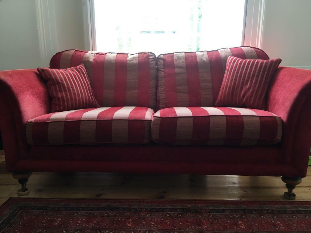 stripe sofa milan set red striped interior decoration with cream paint wall