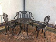 garden black cast iron effect table;
