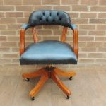 Antique Blue Captains Chair Uk Delivery In Eltham London Gumtree