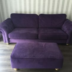Purple Cuddle Chair Beach Chairs With Footrest Sofa And Pouffe Dfs In Liverpool Merseyside Gumtree