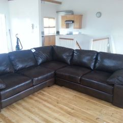 Leather Sofa Brown Dfs Home Of The 399 New Truffle Corner In Brixworth