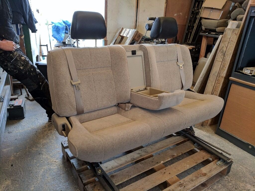 folding van chair barrel back dining large triple 3 seat camper bench cubby bed belts vw t4 t5 transit sprinter vivarro