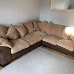 Dfs Brown Half Leather Corner Sofa Cheap Sets Online Reduced Martinez And Cream Selling