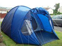 vango venture 500 5 man dome tent 1 or 2 bedroom good used ...