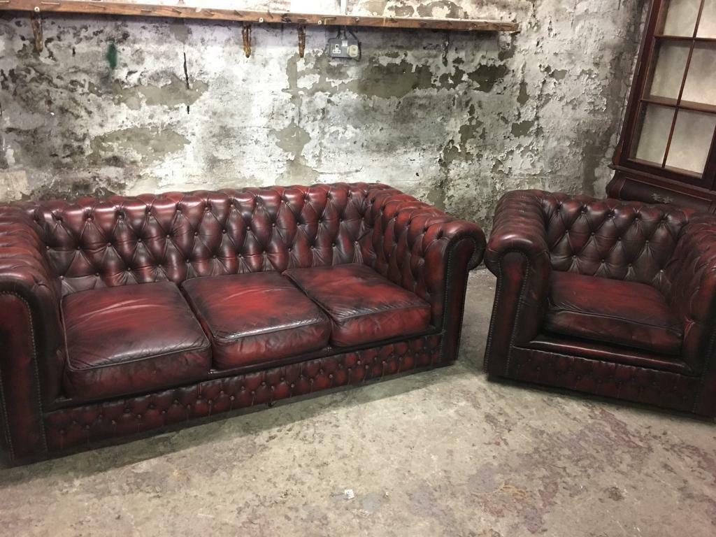 sofa east london gumtree cabin style sleeper oxblood chesterfield red sofas