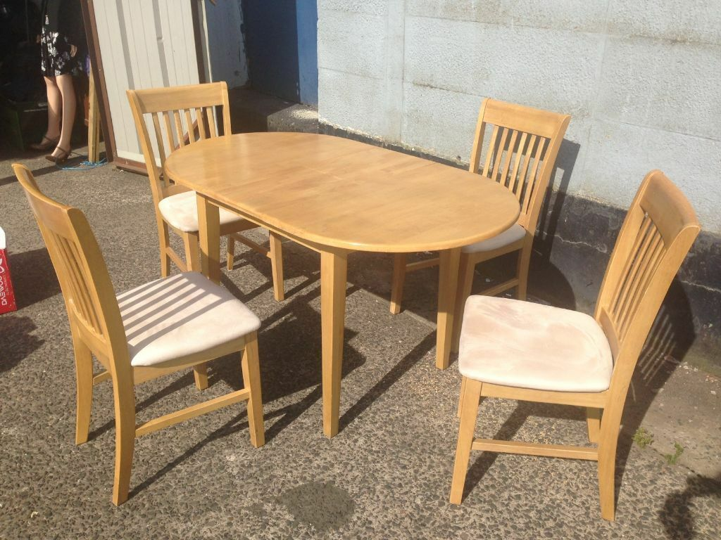 dining room table and chairs gumtree upholstered rocking extending 4 very nice