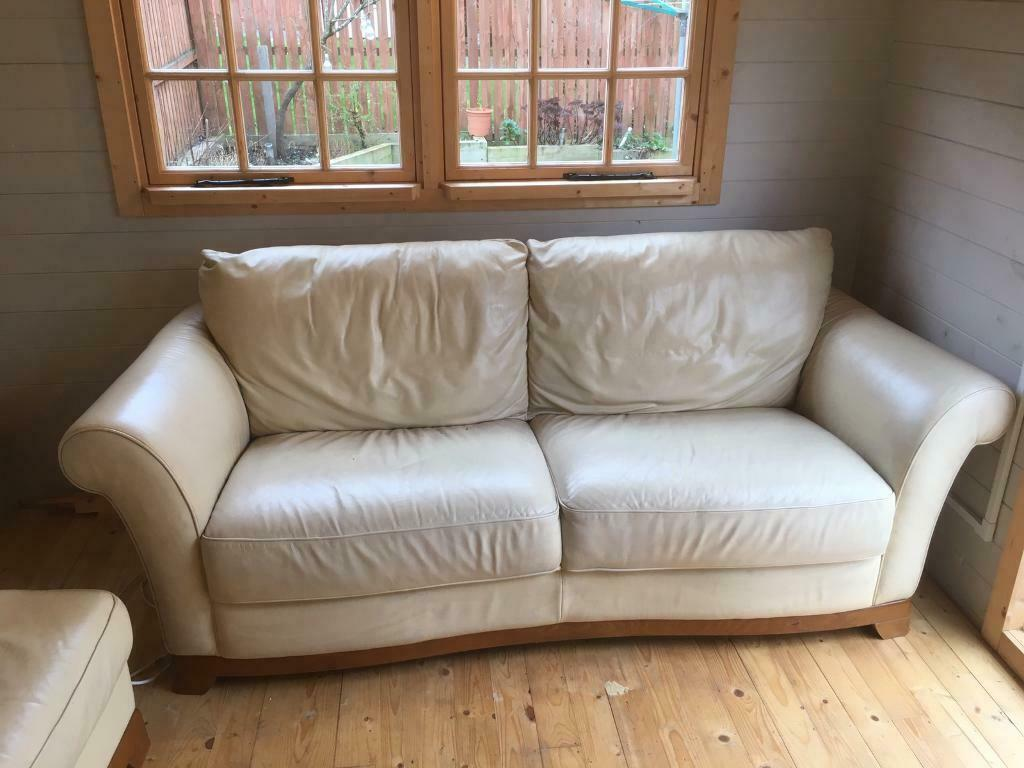 If you have a leather sofa that has seen better days, with worn or torn seat cushions and arms, you may wish that you could afford a new one; Free Natuzzi italian Leather sofa, chair and footstool ...