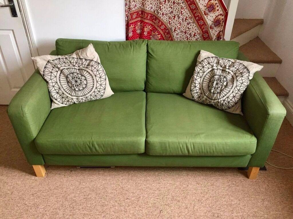 sofa beds reading berkshire divan set chennai ikea karlstad 2 seater green in