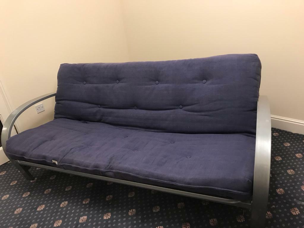 metal frame sofa bed blair 4 piece leather set loveseat chair and ottoman futon gorgeous