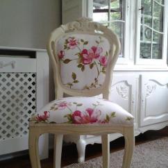 Bedroom Chair Gumtree Ferndown White Velvet Uk Shabby Chic French Louis Reupholstered Cream In