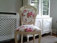 shabby chic french louis reupholstered cream chair | in ...
