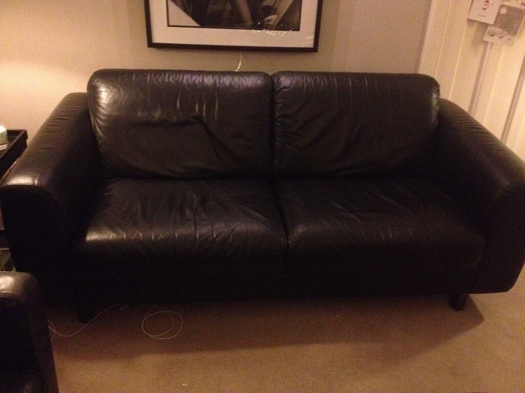 black leather sofas on gumtree recliner sofa covers habitat in thornliebank glasgow