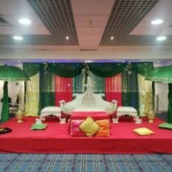 Wedding Chair Covers East Midlands Black And White Striped Accent Asian Floral Stages Mehndi Walkways Centrepieces Lighting Hire In Manchester Gumtree