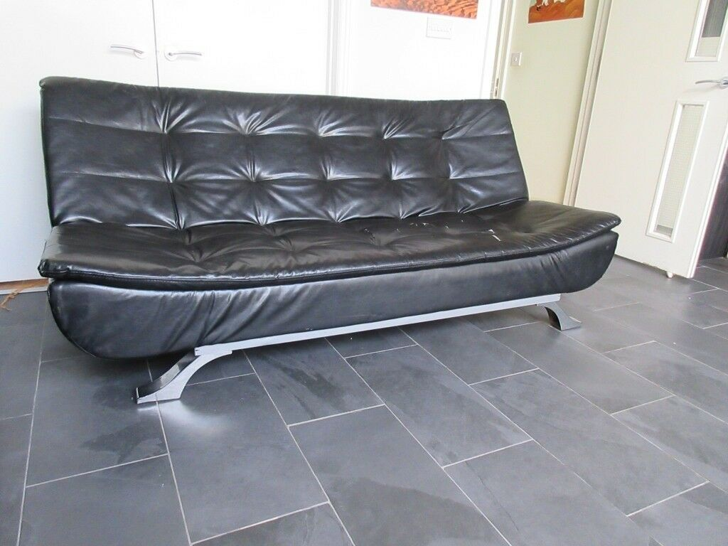 fake leather sofa cleaning 45 angled sectional faux bed in seven sisters london gumtree