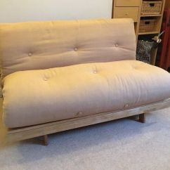 Tampa Futon Sofa Bed Light Brown Sofas Pine Base