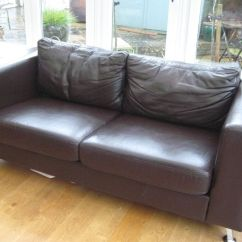 Brown Leather Sofa On Legs Waterproof Covers Two Seater John Lewis Aluminium In Oxford