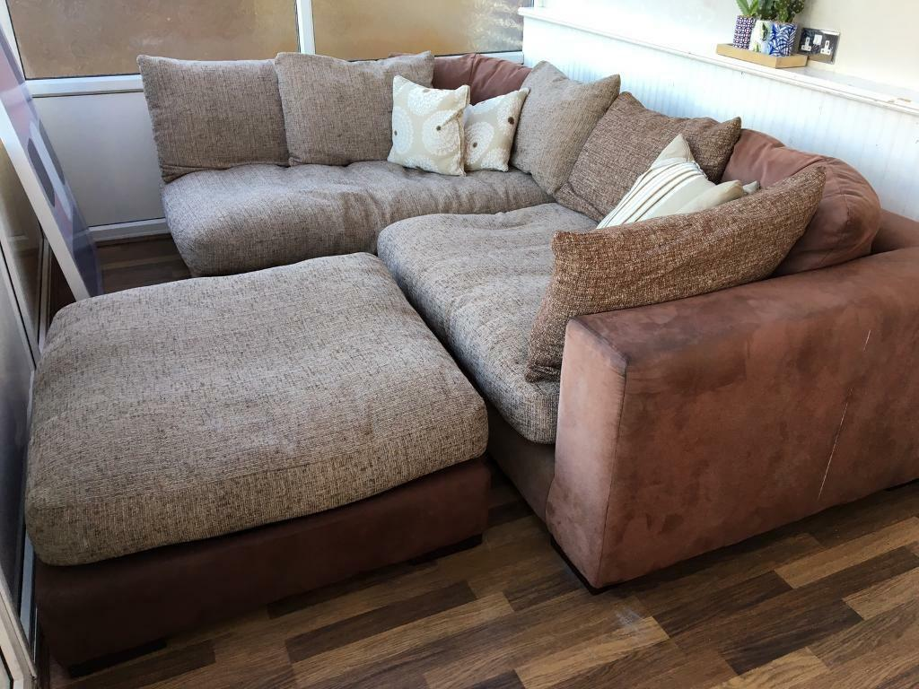 brown fabric corner sofa dfs value city sofas and loveseats in poole dorset gumtree