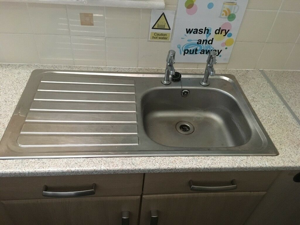 used kitchen sinks for sale storage containers units with worktops and sink in littleover derbyshire