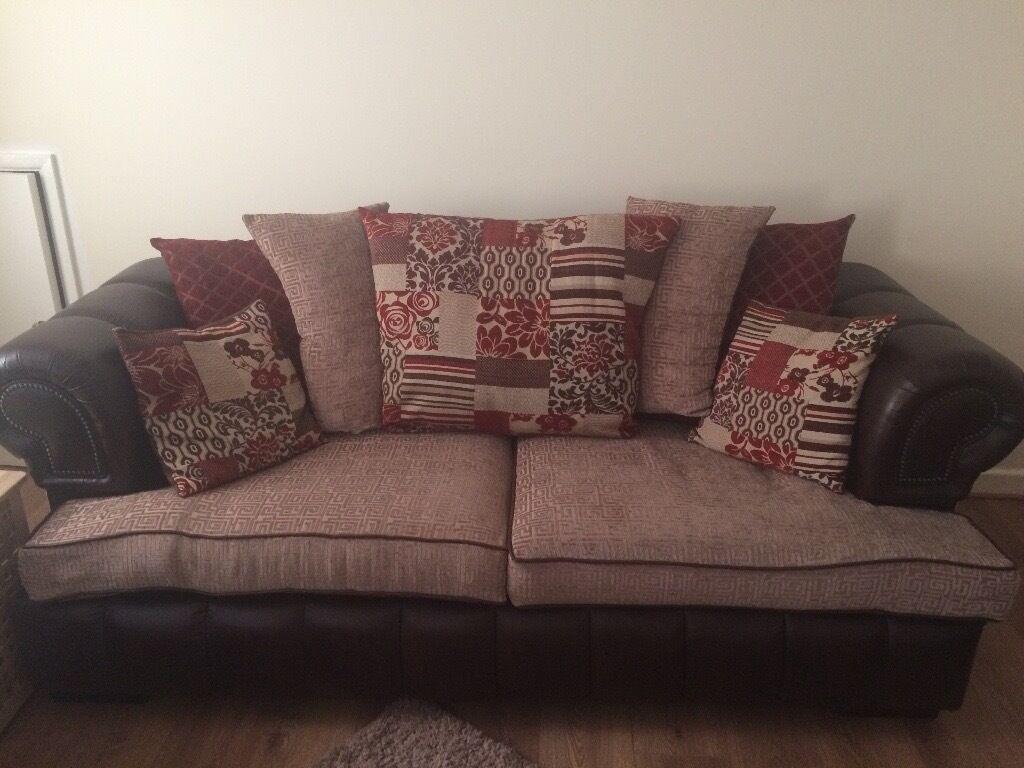 grey crushed velvet chair covers standing desk ikea x2 3 seater scs chesterfield sofas | in bridgend gumtree