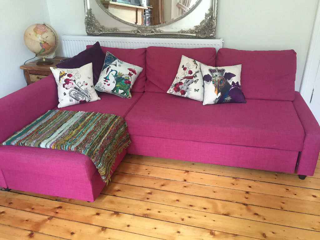light pink sofa bed harveys leather problems ikea sÖderhamn corner section samsta