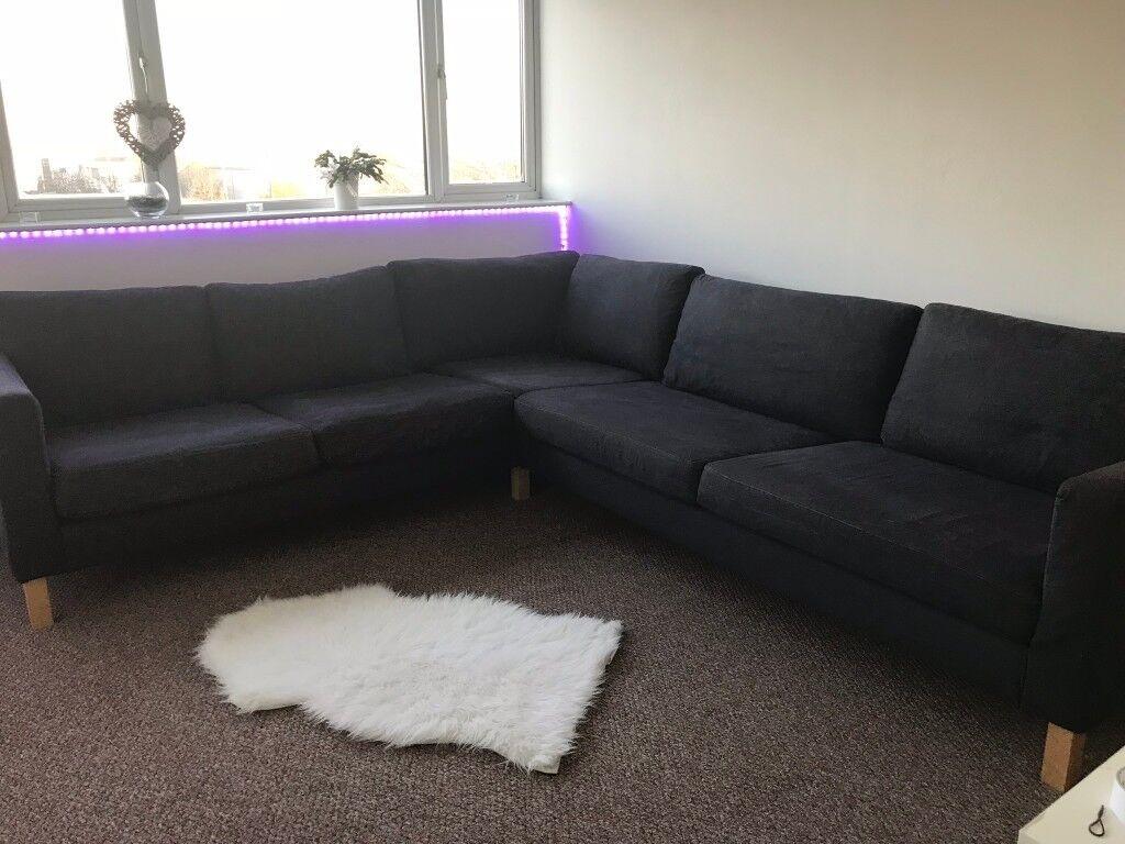 corner sofas glasgow gumtree brown leather sofa on legs large in dark grey colour very comfortable