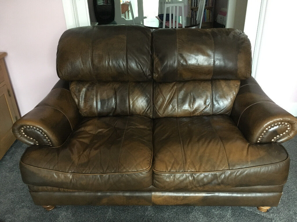 leather sofa brown dfs affordable bed dubai sofas ex in plymouth devon gumtree