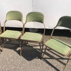 Folding Chair Upcycle Black Covers With Gold Sash Job Lot Retro Vintage Industrial Look Interlocking