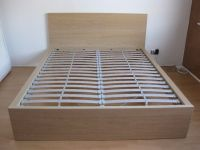 IKEA MALM Bed frame, white stained oak veneer | in Old ...